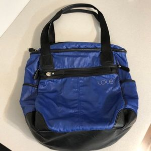 LOLE LILY TOTE / BACKPACK BLUE & BLACK YOGA GYM
